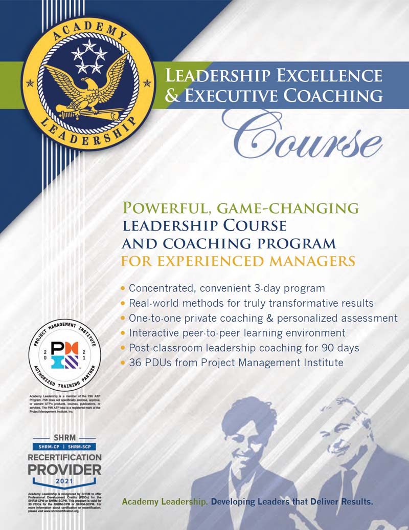 Download Leadership Excellence Course Brochure