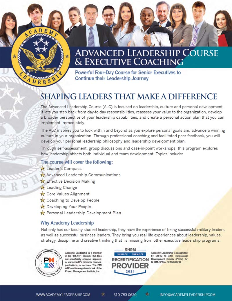 Download Advanced Leadership Course Brochure