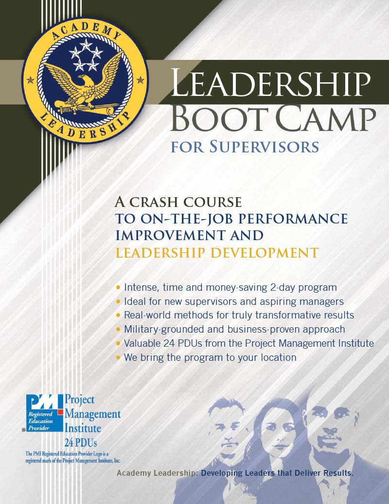 Leadership Boot Camp For Supervisors Academy Leadership